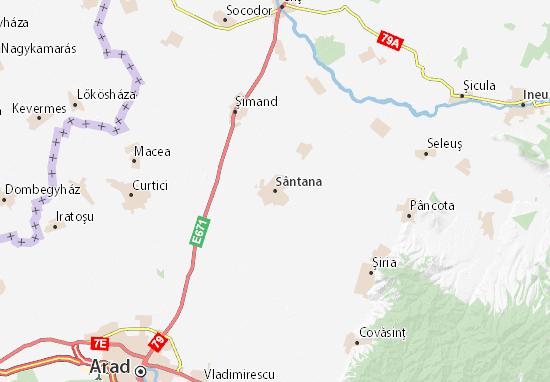 Sântana Map