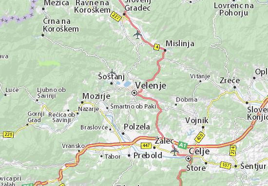 Karte Stadtplan Velenje