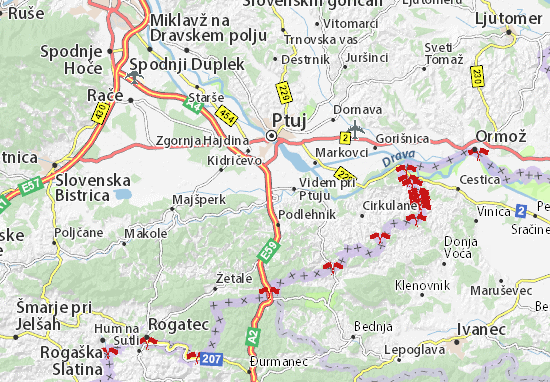 Karte Stadtplan Videm