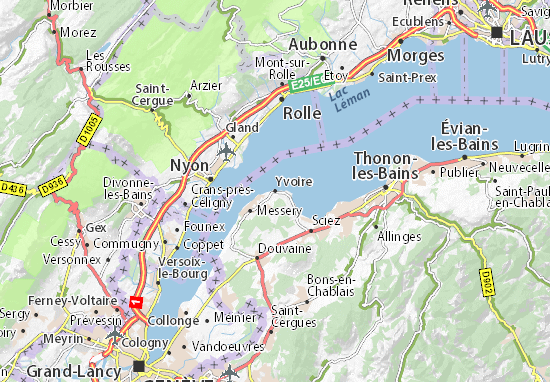 Map Of Yvoire France.Detailed Map Of Yvoire Yvoire Map Viamichelin