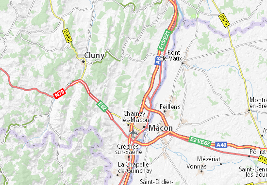 Map Of Blany Michelin Blany Map Viamichelin