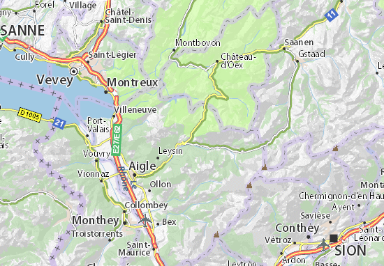 Kaart Plattegrond Ormont-Dessous