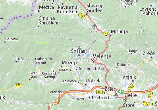 Šoštanj Map
