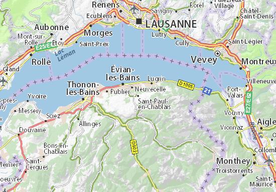Carte-Plan Saint-Paul-en-Chablais
