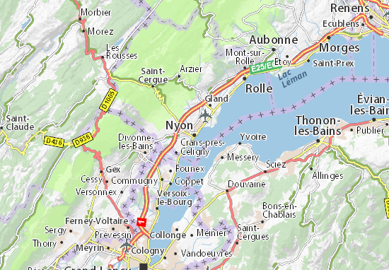 Carte-Plan Nyon