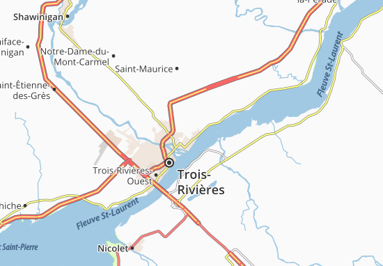 Karte Stadtplan Sainte-Marthe-du-Cap