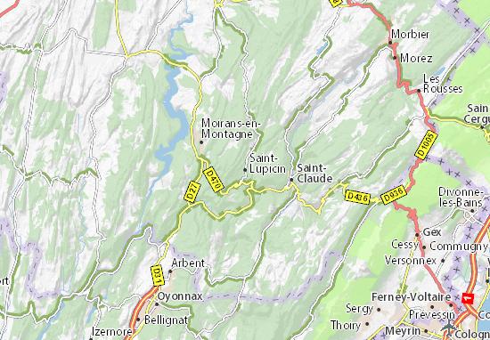 Carte-Plan Saint-Lupicin