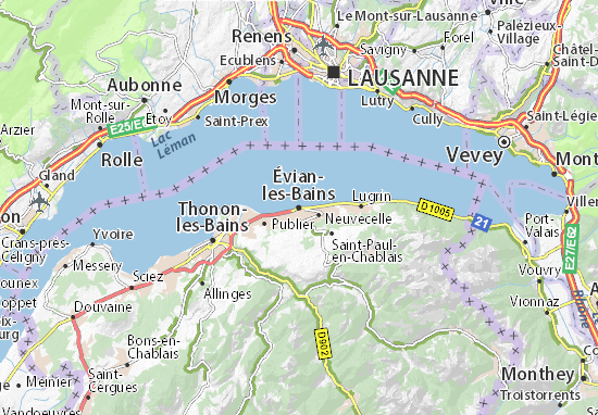 Mapas-Planos Évian-les-Bains