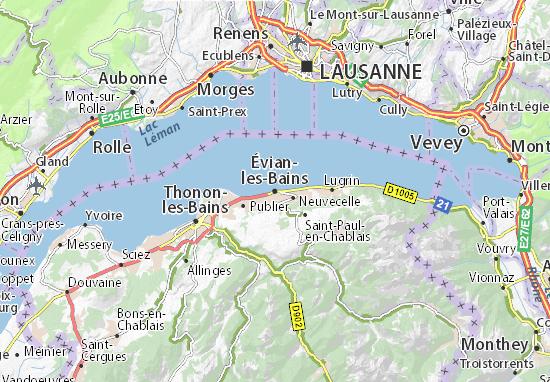 Mapa Plano Évian-les-Bains