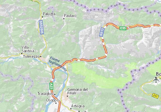 Mapa Plano Moggio Udinese