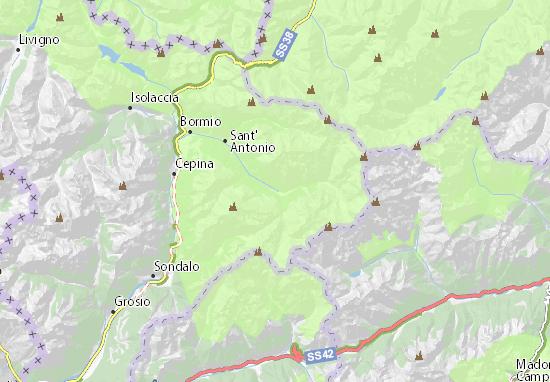 Cartina Geografica Livigno E Dintorni.Mappa Michelin Santa Caterina Valfurva Pinatina Di Santa Caterina Valfurva Viamichelin