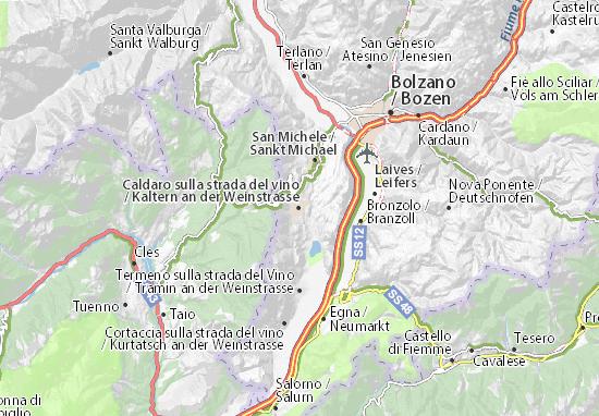 Mappe-Piantine Kaltern an der Weinstrasse