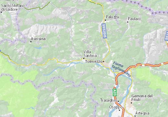 Villa Santina Map