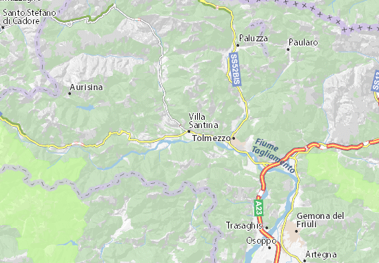 Mapas-Planos Villa Santina