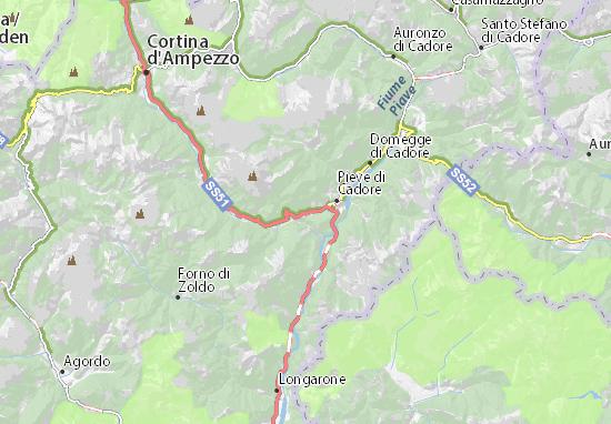 Mapa Plano Valle di Cadore
