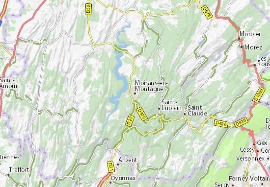 Mapa Plano Moirans-en-Montagne