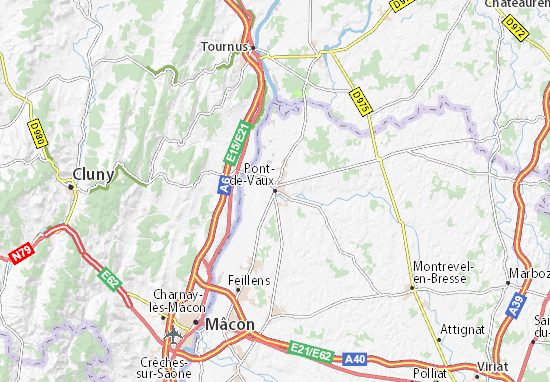 Pont-de-Vaux Map