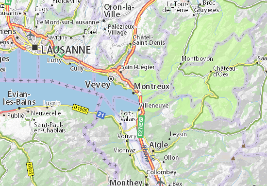Montreux Map