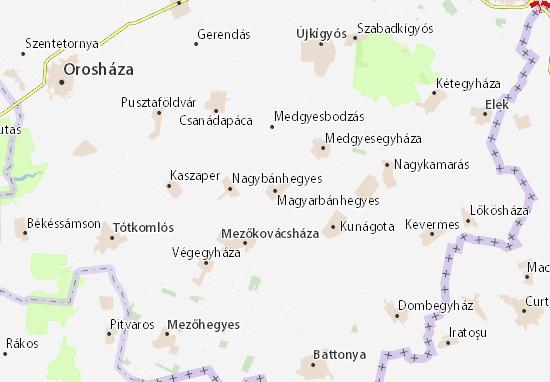 Magyarbánhegyes Map