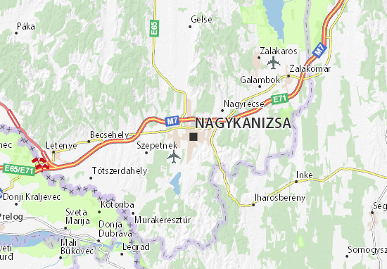 Nagykanizsa Map