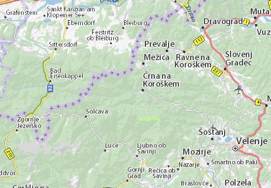 Karte Stadtplan Črna na Koroškem
