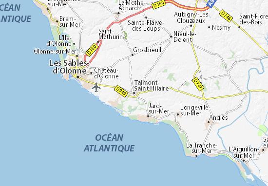 Mappe-Piantine Talmont-Saint-Hilaire