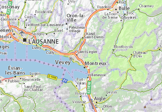 Carte-Plan Blonay