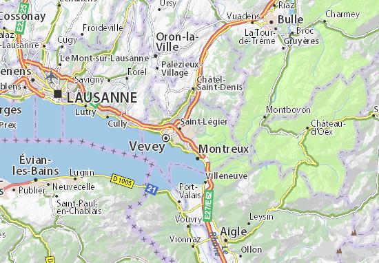 Karte Stadtplan Blonay