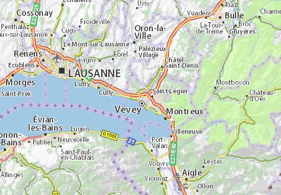 Kaart Plattegrond Corsier-sur-Vevey