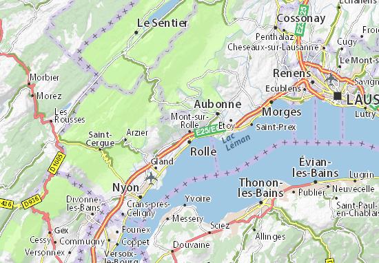 Carte-Plan Mont-sur-Rolle