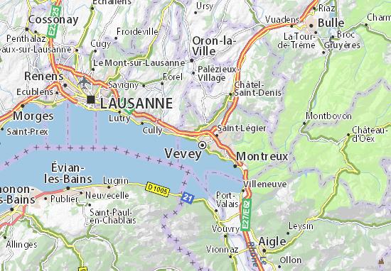Corseaux Map