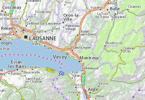 Carte-Plan Saint-Légier