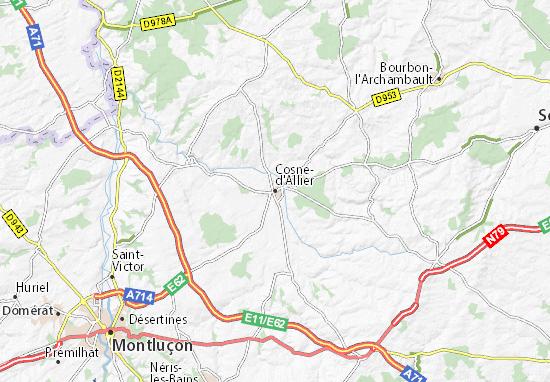 Carte-Plan Cosne-d'Allier