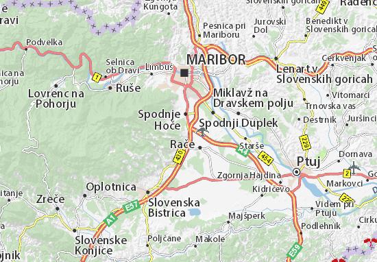 Mapa Plano Slivnica pri Mariboru