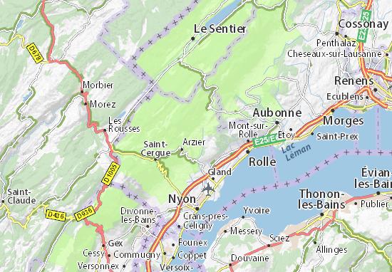 canton de vaud carte Carte détaillée Le Vaud   plan Le Vaud   ViaMichelin
