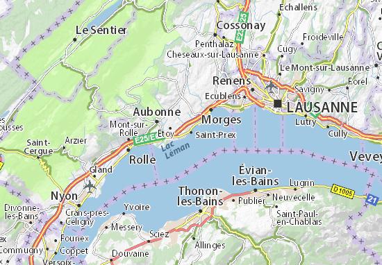 Carte-Plan Saint-Prex