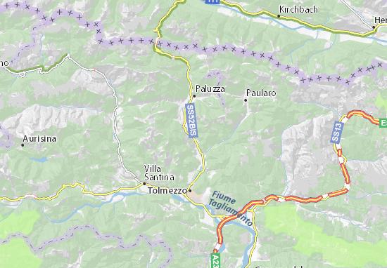 Arta Terme Map