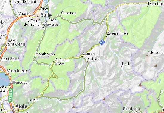 Kaart Plattegrond Saanen