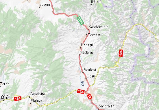 Kaart Plattegrond Mădăraş