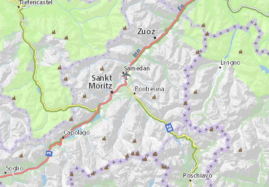 Carte-Plan Pontresina