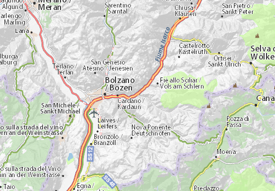 Bolzano Cartina.Mappa Prato All Isarco Cartina Prato All Isarco Viamichelin