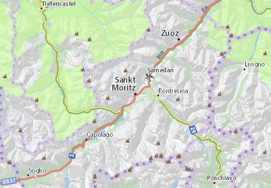 Karte Stadtplan Sankt Moritz