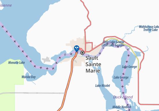 Carte-Plan Sault Sainte Marie