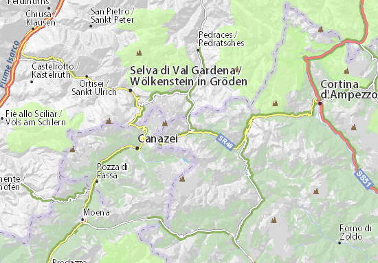 Cartina Veneto Michelin.Michelin Arabba Map Viamichelin