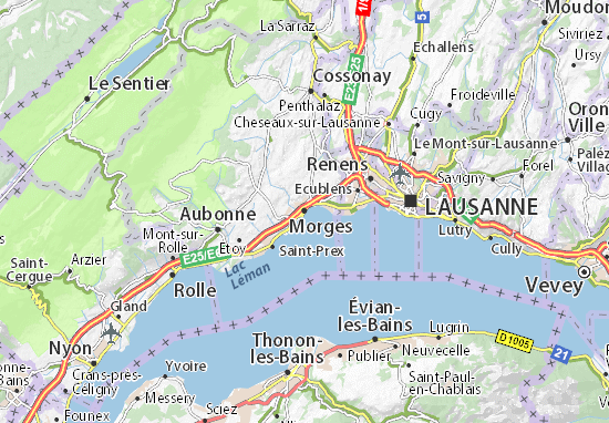 Carte-Plan Morges