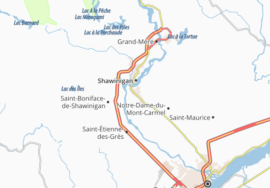 Shawinigan-Sud Map