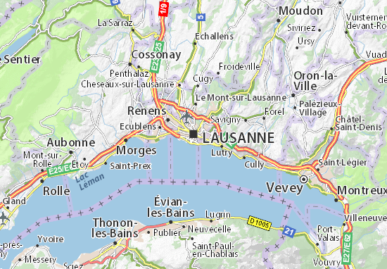 Lausanne Map Detailed Maps For The City Of Lausanne ViaMichelin - Lausanne city map