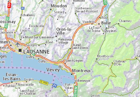 Carte-Plan Châtel-Saint-Denis