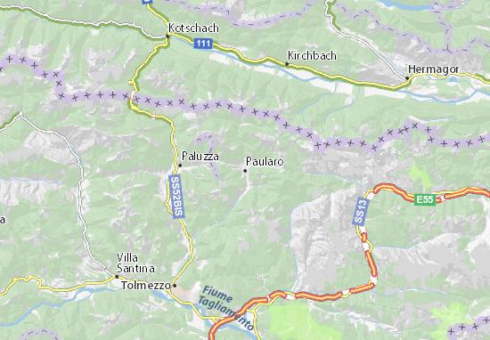 Karte Stadtplan Paularo