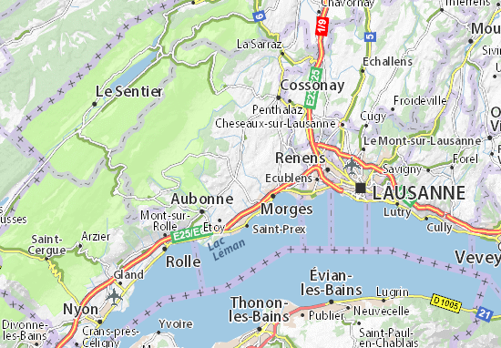 Mapas-Planos Vaux-sur-Morges